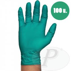 Guante nitrilo verde sin polvo
