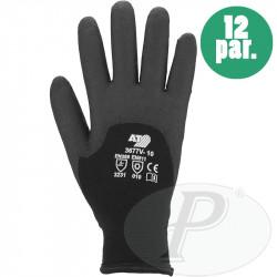 Guantes para el frío sin costuras negros