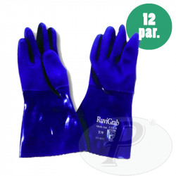 Guantes PVE 30 cm azul 510