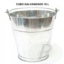 Cubos galvanizados de 16 litros con asa