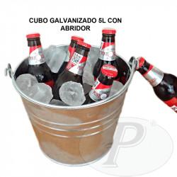 Cubos galvanizados para bebidas con abridor