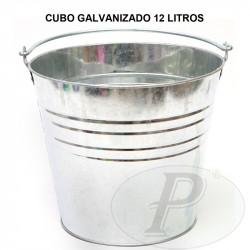 Cubos galvanizados de 12 litros