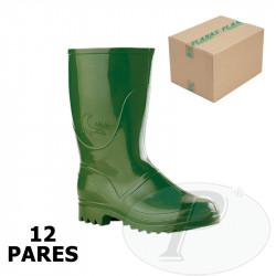 Botas de agua verdes media caña Foca