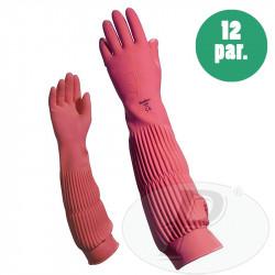 Guantes de látex largos sin flocar 53 cm