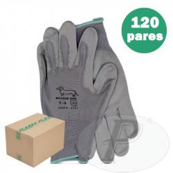 Guantes de poliuretano con soporte nylon 502B