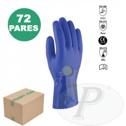 Guantes Super Oil 28 de PVC azul