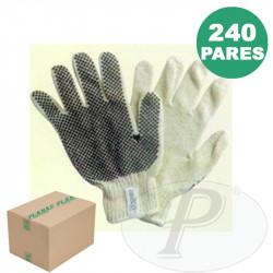 Guantes con motas de PVC tejido algodon