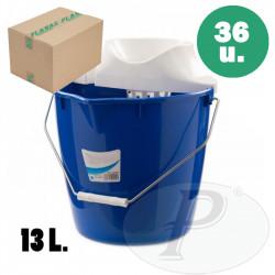Cubo con escurridor de plastico 13 litros