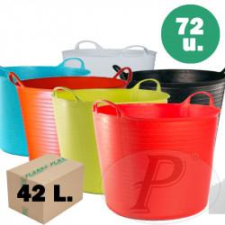 Capazos plastico de 42 litros de colores