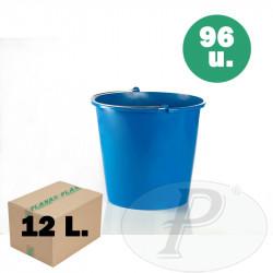 Cubos plastico resistente12 litros azules