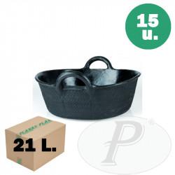 Espuertas de goma de 21 litros