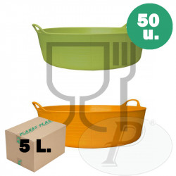Cubo para uso alimentario plano de 5 litros