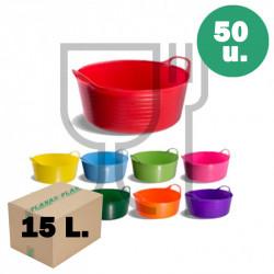 Cubo plano para uso alimentario 15 litros