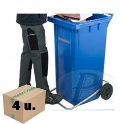 Cubos basura 120l con tapa y pedal