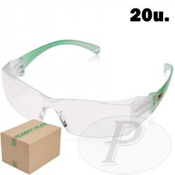 Gafas de visita verdes contra impactos