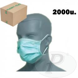 Mascarillas respiratorias desechables papel 3 pliegues