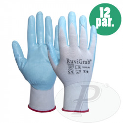 Guantes de nylon de nitrilo apto para alimentaria - 12 p