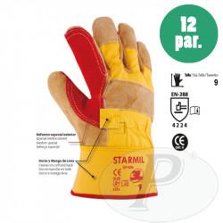 Guantes serraje con refuerzo STARMIL - 12u
