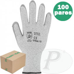 Guante anticorte fibra de vidrio HDPE - 10 pares