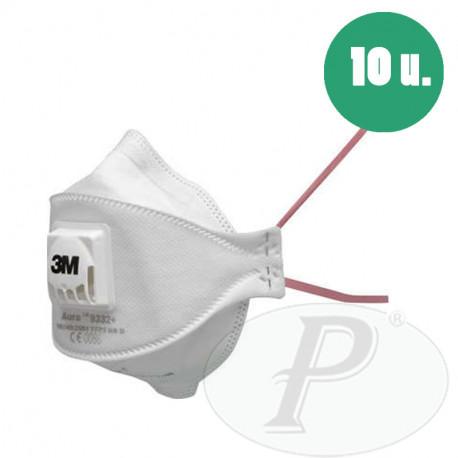 Mascarilla Auto filtrante para partículas con válvula 9332 - 10u