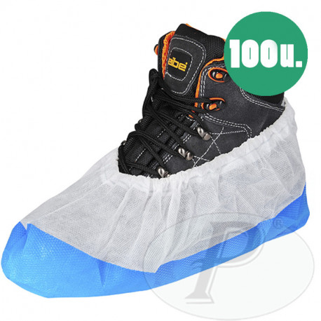 Cubrezapatos polipropileno con base azul resistente