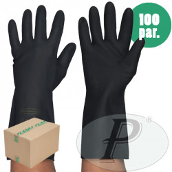 Guantes industriales negros latex neopreno