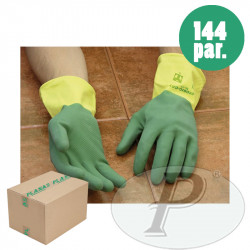 Guantes latex natural flocado Ecobic Total
