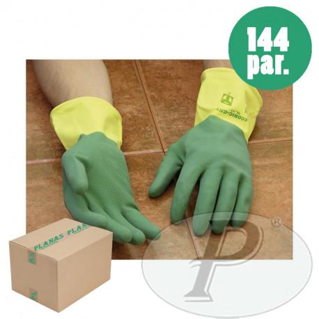 Guantes latex natural flocado Ecobic Total