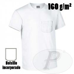 Camisetas manga corta algodón con bolsillo