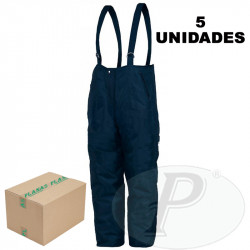 Pantalones isotérmicos con tirantes azules